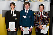 Boys Orienteering finalists Gene Beveridge, Toby Scott & Jourdan Harvey. ASB College Sport Young Sportperson of the Year Awards 2008 held at Eden Park, Auckland, on Thursday November 13th, 2008.