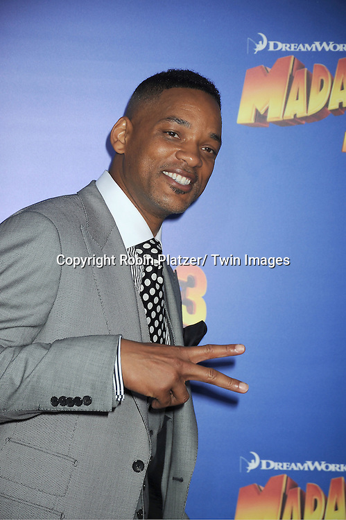 """Will Smith attends the """"Madagascar 3:  Europe's Most Wanted""""  New York Premiere on June 7, 2012 at The Ziegfeld Theatre in New York City."""