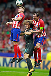 Atletico de Madrid's Lucas Hernandez (l) and Diego Godin (r) and Chelsea FC's David Luiz during Champions League 2017/2018, Group C, match 2. September 27,2017. (ALTERPHOTOS/Acero)