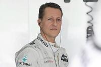 Mercedes Amg German Driver Michael Schumacher.24/03/2012 Grand Prix Malesia, Sepang , Essais..Foto Insidefoto  /Bernard Asset / Panoramic.ITALY ONLY..