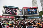 Atmosphere during the HSBC Hong Kong Rugby Sevens 2017 on 09 April 2017 in Hong Kong Stadium, Hong Kong, China. Photo by Marcio Rodrigo Machado / Power Sport Images