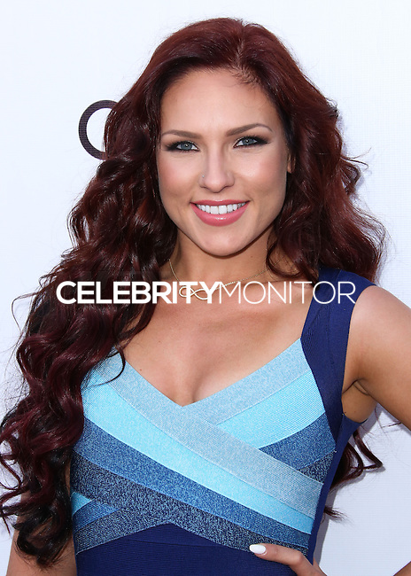 BEVERLY HILLS, CA, USA - JUNE 28: Dancer Sharna Burgess arrives at the Genlux Magazine Summer 2014 Issue Release Party held at the Luxe Hotel on June 28, 2014 in Beverly Hills, California, United States. (Photo by Xavier Collin/Celebrity Monitor)