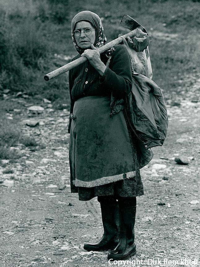Bäurin in Bulgarien 1991