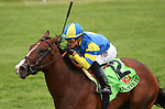 LEXINGTON, KY - April 06, 2018. #12 Analyze It and jockey Jose Ortiz win the 30th running of The Kentucky Utilities Transylvania (Grade 3) for owner William Lawrence and trainer Chad Brown at Keeneland Race Course.  Lexington, Kentucky. (Photo by Candice Chavez/Eclipse Sportswire/Getty Images)