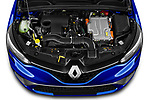 Car Stock 2020 Renault Clio-e-Tech RS-Line 5 Door Hatchback Engine  high angle detail view