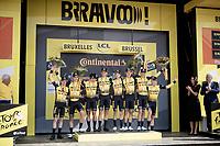 Team Jumbo-Visma wins the TTT<br /> <br /> Stage 2 (TTT): Brussels to Brussels(BEL/28km) <br /> 106th Tour de France 2019 (2.UWT)<br /> <br /> ©kramon