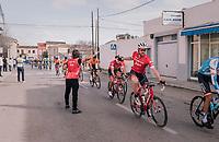 Gregory Rast (SUI/Trek-Segafredo) catching a bidon<br /> <br /> 27th Challenge Ciclista Mallorca 2018<br /> Trofeo Campos-Porreres-Felanitx-Ses Salines: 176km