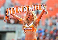 April 28, 2013: Houston dynamo cheerleader before Major League Soccer match in Houston  TX. Houston Dynamo draw 1-1 against Colorado Rapids.