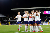 GOAL - Fran Kirby of England Women scores during the Women's international friendly match between England Women and Australia at Craven Cottage, London, England on 9 October 2018. Photo by Carlton Myrie / PRiME Media Images.