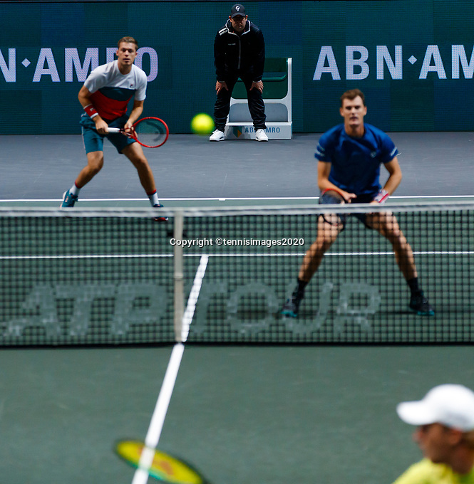 Rotterdam, The Netherlands, 14 Februari 2020, ABNAMRO World Tennis Tournament, Ahoy, Doubles: Jamie Murray (GBR) and Neal Skypski (GBR). <br />