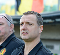 20190227 - LARNACA , CYPRUS :  Belgian head coach Ives Serneels pictured during a women's soccer game between the Belgian Red Flames and Slovakia , on Wednesday 27 February 2019 at the AEK Arena in Larnaca , Cyprus . This is the first game in group C for Belgium during the Cyprus Womens Cup 2019 , a prestigious women soccer tournament as a preparation on the Uefa Women's Euro 2021 qualification duels. PHOTO SPORTPIX.BE | DAVID CATRY