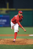 Clearwater Threshers relief pitcher Jesen Therrien (34) during a game against the Daytona Tortugas on April 19, 2016 at Bright House Field in Clearwater, Florida.  Clearwater defeated Daytona 4-1.  (Mike Janes/Four Seam Images)