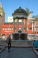 "San Diego: Horton Plaza Fountain. Irving Gill, 1910. ""After the Coregic Monument of Lysicrates, in Athens."" Initially named Broadway Fountain. 4th Ave. Photo '81."