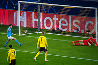 14th April 2021; Induna Park, Dortmund, Germany; UEFA Champions League Football quarter-final, Borussia Dortmund versus Manchester City; Marvin Hitz Borussia Dortmund is beaten by the shot and goal from Phil Foden for 1-2