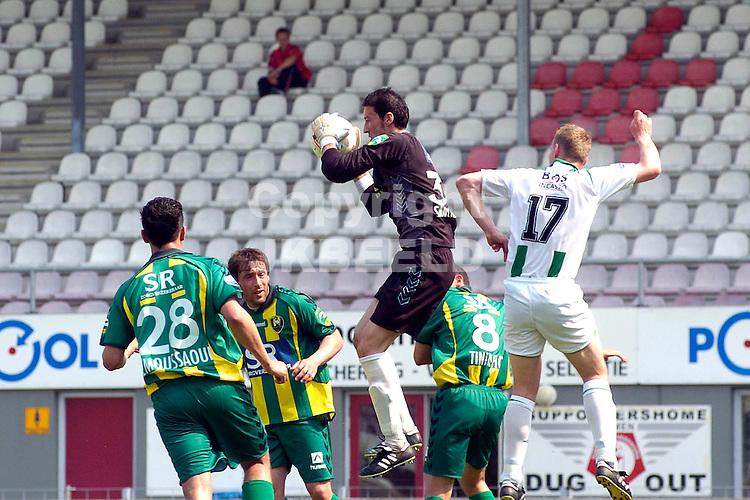emmen, den haag - groningen restant 1-3 25-04-2007 eredivisie seizoen 2006-2007 doelman sanchez redt  .fotograaf Jan Kanning