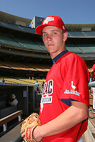August 9 2008: Daniel Tuttle participates in the Aflac All American baseball game for incoming high school seniors at Dodger Stadium in Los Angeles,CA.  Photo by Larry Goren/Four Seam Images