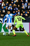 Oscar Rodriguez of CD Leganes and Allan-Romeo Nyom of Getafe FC during La Liga match between CD Leganes and Getafe CF at Butarque Stadium in Leganes, Spain. January 17, 2020. (ALTERPHOTOS/A. Perez Meca)