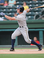 Outfielder Slade Heathcott (6) of the Charleston RiverDogs in a game against the Greenville Drive on Aug. 24, 2010, at Fluor Field at the West End in Greenville, S.C. Photo by: Tom Priddy/Four Seam Images