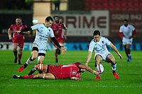 Aaron Shingler of Scarlets in action during the European Rugby Challenge Cup Round 5 match between the Scarlets and RC Toulon at the Parc Y Scarlets in Llanelli, Wales, UK. Saturday January 11 2020