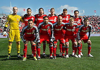 26 March 2011: The starting eleven of the Toronto FC during an MLS game between the Portland Timbers and the Toronto FC at BMO Field in Toronto, Ontario Canada..Toronto FC won 2-0....