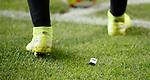 22.08.2019 Legia Warsaw v Rangers: Steven Davis has lighters thrown at him as he prepares to take a corner
