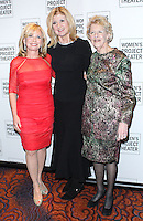 NEW YORK CITY, NY, USA - MARCH 10: Sharon Bush, Arianna Huffington, Joan Vail Thorne at the Women Project Theater's 2014 Women Of Achievement Gala held at Mandarin Oriental Hotel on March 10, 2014 in New York City, New York, United States. (Photo by Jeffery Duran/Celebrity Monitor)