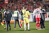 Dimo Wache und Leon Andreasen (beide FSV Mainz 05) freuen sich