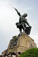 Denkmal von Sampiero von 1890 in Bastelico, Korsika, Frankreich