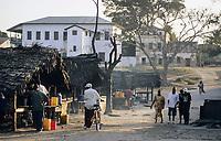 TANZANIA, Bagamoyo, building from german colonial time , german Boma /  TANSANIA, Bagamoyo, war von 1888 bis 1891 Hauptstadt der deutschen Kolonie Deutsch Ostafrika, Gebaeude aus der Kolonialzeit, deutsche Festung Boma