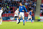St Johnstone v Lask…26.08.21  McDiarmid Park    Europa Conference League Qualifier<br />Murray Davidson shows his frustration after not receiving a return pass<br />Picture by Graeme Hart.<br />Copyright Perthshire Picture Agency<br />Tel: 01738 623350  Mobile: 07990 594431