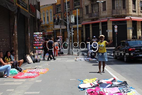 São Paulo (SP), 30/01/2021 - Quarentena-SP - Movimentação na região central de São Paulo neste sábado (30) quando todo estado está na fase vermelha do Plano São Paulo.