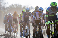 eventual race winner Tim Merlier (BEL/Alpecin-Fenix) following in front group over the rough cobbles<br /> <br /> 53rd Le Samyn 2021<br /> ME (1.1)<br /> 1 day race from Quaregnon to Dour (BEL/205km)<br /> <br /> ©kramon