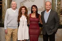 """Nicholas Lyndhurst, Cassidy Janson, Danielle de Niese and Kelsey Grammer<br /> New production of """"Man of La Mancha"""" announcement at the London Coliseum, London<br /> <br /> ©Ash Knotek  D3480  19/02/2019"""