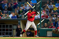 Worcester Red Sox Jeremy Rivera (53) bats during a game against the Rochester Red Wings on September 3, 2021 at Frontier Field in Rochester, New York.  (Mike Janes/Four Seam Images)