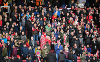 Lincoln City fans enjoy the pre-match atmosphere<br /> <br /> Photographer Chris Vaughan/CameraSport<br /> <br /> The EFL Sky Bet League Two - Lincoln City v Newport County - Saturday 22nd December 201 - Sincil Bank - Lincoln<br /> <br /> World Copyright © 2018 CameraSport. All rights reserved. 43 Linden Ave. Countesthorpe. Leicester. England. LE8 5PG - Tel: +44 (0) 116 277 4147 - admin@camerasport.com - www.camerasport.com