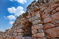 The Cyclopean Walls in Tiryns (1.400 - 1.200 B.C.), Greece