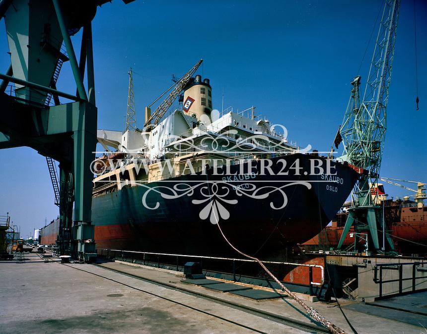 Juni 1978.  Scheepswerf Mercantile Marine Engineering in Antwerpen.