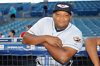 Lakeland Flying Tigers pitcher Melvin Mercedes #44 before a game against the Tampa Yankees at Steinbrenner Field on April 6, 2013 in Tampa, Florida.  Lakeland defeated Tampa 8-3.  (Mike Janes/Four Seam Images)