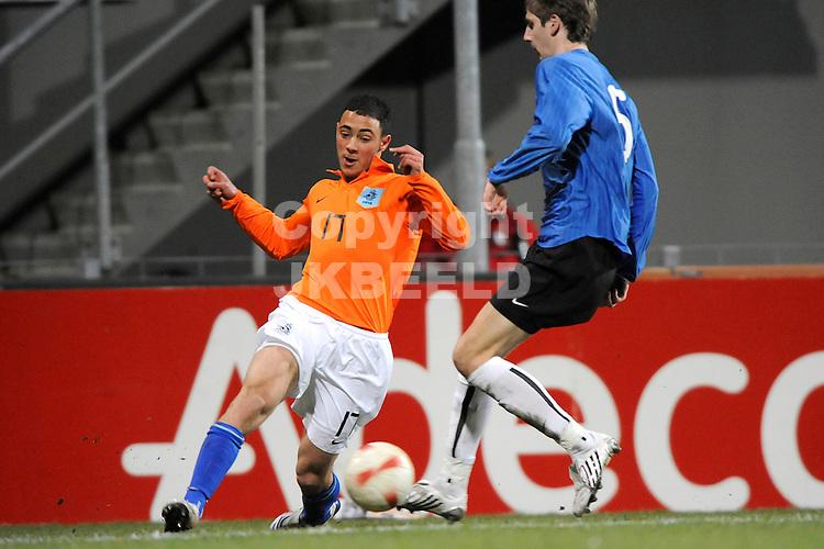 emmen voetbal jong oranje - jong estland ek kwalificatie 26-03-2008 ..nordin amrabat..