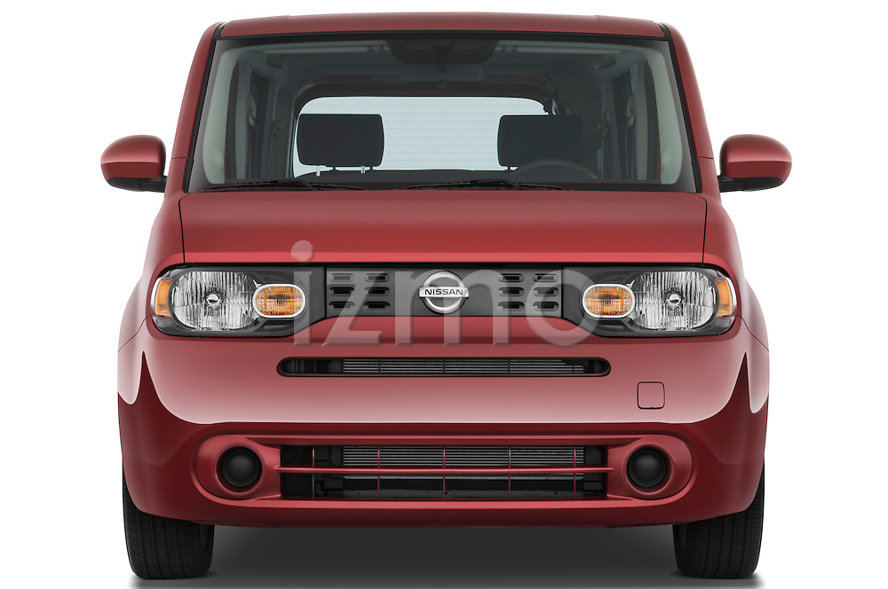 Straight front view of a 2009 Nissan Cube SL