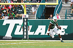 USF tops Tulane, 34-28, in football action at Yulman Stadium.