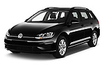 2017 Volkswagen Golf-Variant Trend-Line 5 Door Wagon Angular Front stock photos of front three quarter view