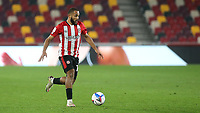 Bryan Mbeumo of Brentford in action during Brentford vs Queens Park Rangers, Sky Bet EFL Championship Football at the Brentford Community Stadium on 27th November 2020