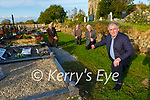 Michael Cahill points out the remaining land available for new graves in Churchtown graveyard in Beaufort  with l-r: Michael Foley Neilie O'Sullivan and Padraig O'Sullivan