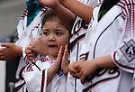 Aleah Alvarez, 3, cheers for the Reno Aces before a game against the Tacoma Rainiers, in Reno, Nev., on Friday, May 28, 2021. <br /> Photo by Cathleen Allison
