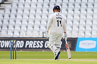 Simon Harmer of Essex leaves the field having been dismissed for 0 during Nottinghamshire CCC vs Essex CCC, LV Insurance County Championship Group 1 Cricket at Trent Bridge on 9th May 2021