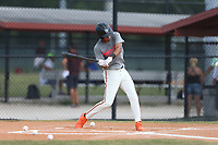Vaughn Grissom (42) of Hagerty High School in Orlando, Florida during the Under Armour Baseball Factory National Showcase, Florida, presented by Baseball Factory on June 12, 2018 the Joe DiMaggio Sports Complex in Clearwater, Florida.  (Nathan Ray/Four Seam Images)