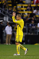 25 OCTOBER 2009:  Alejandro Moreno of the Columbus Crew (10) leaves the field during the New England Revolution at Columbus Crew MLS game in Columbus, Ohio on October 25, 2009.