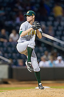 Lynchburg Hillcats relief pitcher Brady Feigl (2) in action against the Winston-Salem Dash at BB&T Ballpark on August 13, 2014 in Winston-Salem, North Carolina.  The Hillcats defeated the Dash 4-3.   (Brian Westerholt/Four Seam Images)