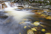 A small pool along Harvard Brook in the White Mountains of New Hampshire USA during the spring months.